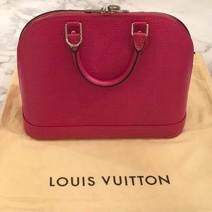 Louis Vuitton Bags - Louis Vuitton Alma PM Hot Pink Epi Leather Satchel